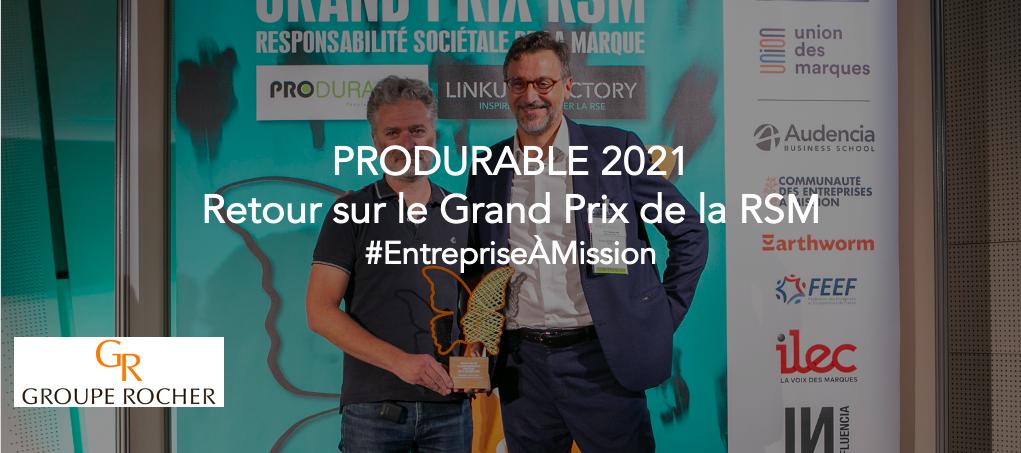Le Groupe Rocher reçoit le prix Entreprise à mission lors du 4ème Grand Prix de la RSM pour sa mission «Reconnect People To Nature»
